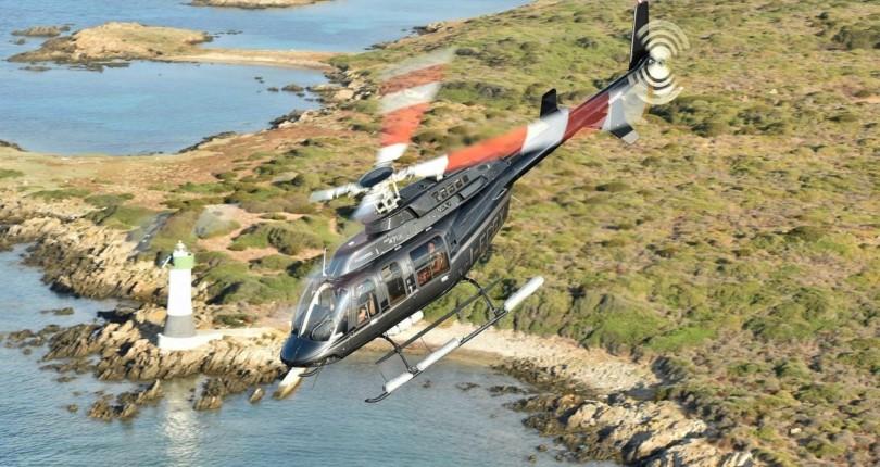 Полет на вертолете на Сардинии