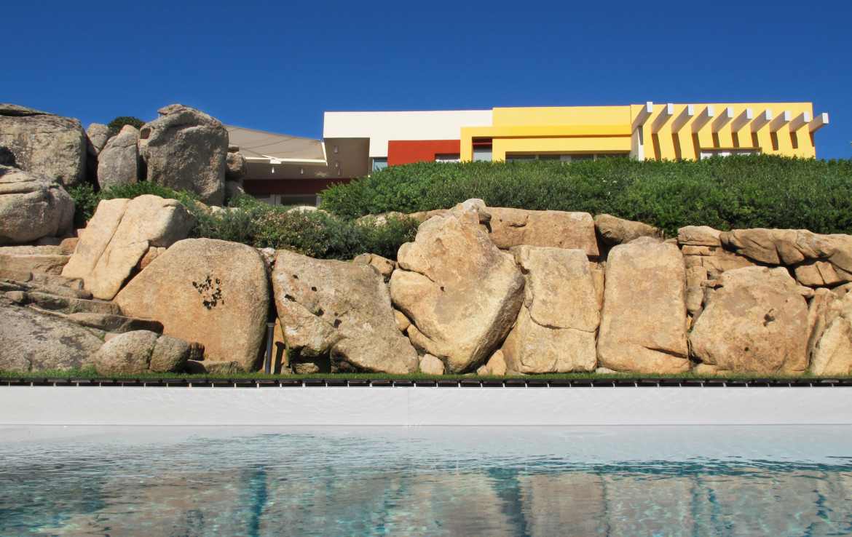 foto casa Nadia Lager settembre 2014 vista dalla piscina / foto di Carla Mondino